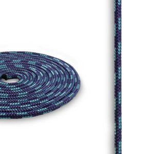 Accessory Cord 3mm Purple w/ Light Blue X 50 ft by New England Rope
