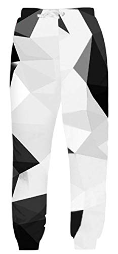 - Belovecol Men Women Unisex Running Baggy Sweatpants 3D Print Elastic Waist Casual Track Pants Novelty Joggers Trousers L