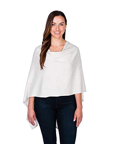 Caroline Grace by Alashan Trade Wind Cashmere Blend Dress Topper Poncho - Cashmere Cotton Womens