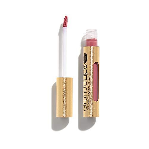 GrandeLIPS Plumping Liquid Lipstick, Semi-Matte, Vintage Rose (Grand Rose)