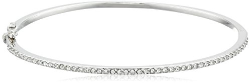 Judith Jack Sterling Silver Crystal Hinged Bangle (Crystal Designer Bangles)
