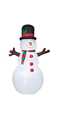 Lighted Snowman Outdoor Christmas Decoration - 7