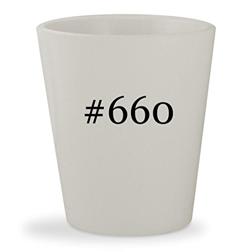 #660 - White Hashtag Ceramic 1.5oz Shot Glass