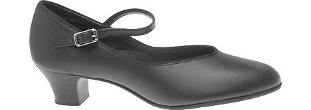 Capezio Women's Jr. Footlight Character Shoe,Black,4 M US
