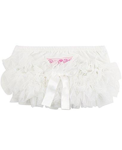 - RuffleButts Baby/Toddler Girls White Frilly Ruffled Bloomer - 2T/3T