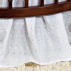 B000IG6IY8 Babydoll Round Crib Eyelet Dust Ruffles, White 31CA9izMC2L
