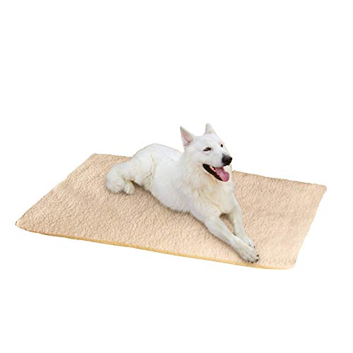 Collections Etc Comfy Fleece Thermal Pet Cushion, Beige, Large Review