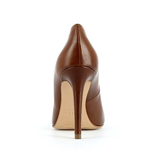Evita Punta Col Alina Chiusa cognac Tacco Shoes Donna Marrone Scarpe r6fXArpWtq