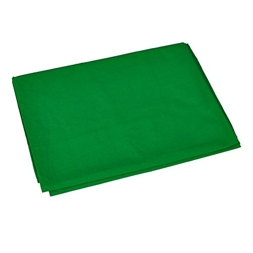 Neewer 6x9 feet/1.8x2.8 meters Photo Studio 100 Percent Pure Muslin Collapsible Backdrop Background for Photography, Video and Television (Background Only)-Green. by Neewer