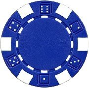 Da Vinci 50 Clay Composite Dice Striped 11.5-Gram Poker Chips (Blue) (Poker Chip Labels)