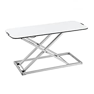 EZUP Height Adjustable Sit/Stand Desk Surface Riser (32x13, White)