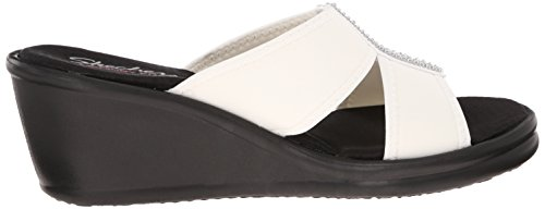 Skechers Cali Womens Rumblers Two-Strap Slide Wedge Sandal White