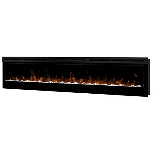 """Pemberly Row 74"""" Wall Mount Electric Insert Fireplace in Bla"""