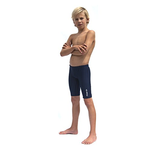 Flow Swim Jammer - Boys Youth Sizes 20 To 32 In Black, Navy, and Blue (25, Navy - Competition Swimsuit Sizing