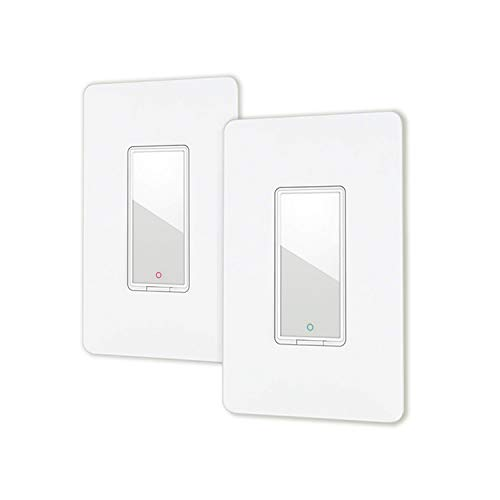 Smart light switch by Lumiman, Compatible with Alexa, Google Assistant, Single-Pole, Schedule, Remote Control Neutral Wire Required, Easy Installation, ETL Listed 2Pack