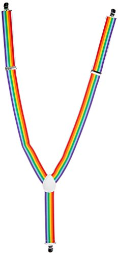 Rainbow Suspenders (adjustable) Party Accessory  (1 count) (1/Pkg) (New Orleans Costume)