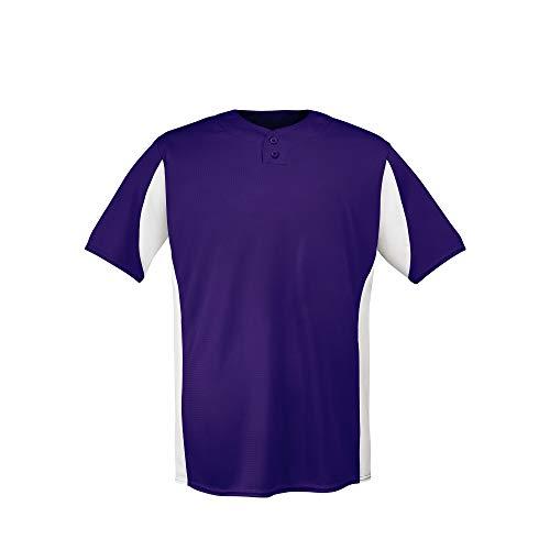 (EvoShield Adult U201 2 Button Placket Pullover, Purple - 2X)