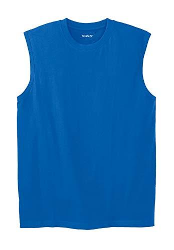 KingSize Men's Big & Tall Lightweight Cotton Muscle Shirt, Royal Blue Big-3Xl