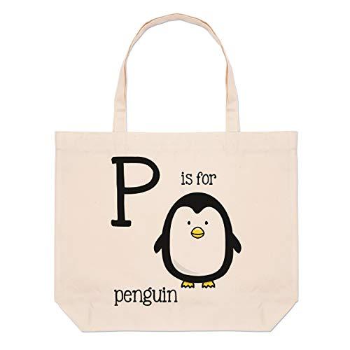 Playa Bolsas Bolso Para Grande Es P Pingüino Letra qcAY0Y