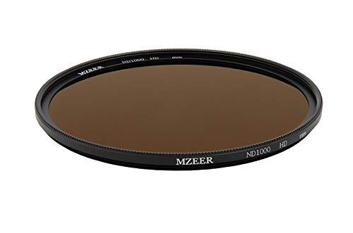 MZEER 72mm ND 1000 Filter Slim Neutral Density Filter Professional Photography Filter HD 10 Tracks Optical Glass