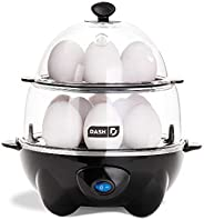 DASH Deluxe Rapid Egg Cooker Electric for Hard Boiled, Poached, Scrambled, Omelets, Steamed Vegetables, Seafoo