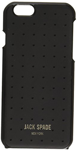 JACK SPADE iPhone 6s Case [Shock Absorbing][Textured] Cover fits Both iPhone 6, iPhone 6s - Perforated Black