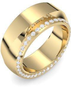 Goldring breit  Goldring Zirkonia 585 + inkl. Luxusetui + Zirkonia Ring Gold ...