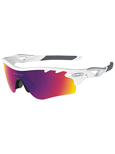Oakley Radarlock Prizm Sunglasses Polished White/Prizm Road-Persimmon Vtd, One Size - - Path Prizm Radarlock