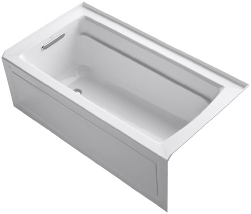 Bubblemassage Bathtub - KOHLER K-1122-GLA-0 Archer BubbleMassage 5-Foot Bath, White