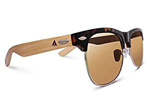 TREEHUT Wooden Bamboo Sunglasses Temples Half Frame Rim Clubmaster Vintage