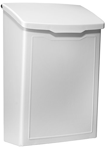 Architectural Mailboxes 2681W Marina Wall Mount Mailbox White Marina Wall Mount Mailbox, Small