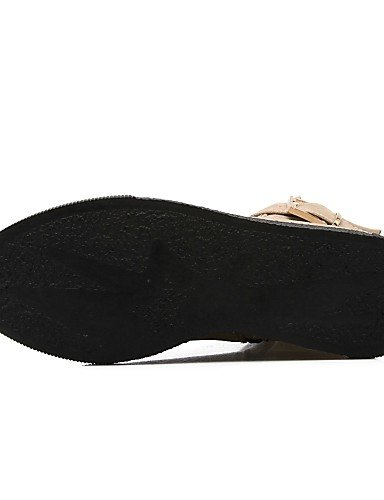 Cn33 4 Beige De Uk3 Mujer Casual us4 Negro Rojo Botas Zapatos Cn34 Vellón Uk2 Moda Black Punta 5 Redonda Tacón 5 Eu34 Bajo Xzz A Black Vestido 2 Eu35 La us5 SqAaw5