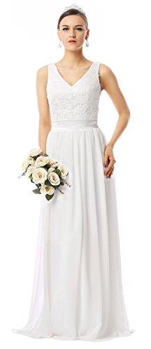 ivory a line wedding dress - 6