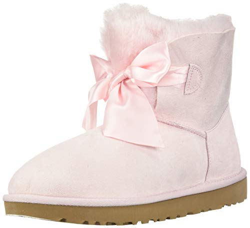 UGG Women's W GITA BOW MINI Fashion Boot, seashell pink, 10 M US (Pink Bows Uggs)