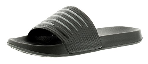 Hombre / Negro Hombre ANTIDESLIZAMIENTO Pantuflas para ducha Zapatos Sin Talón / Sandalias - Negro/gris - GB Tallas 6-11