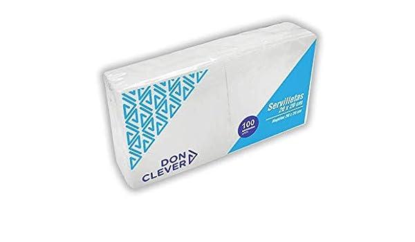 DON CLEVER PEQUEÑA SERVILLETA 20X20 cm Blanca 32 Paquetes de 100 ...