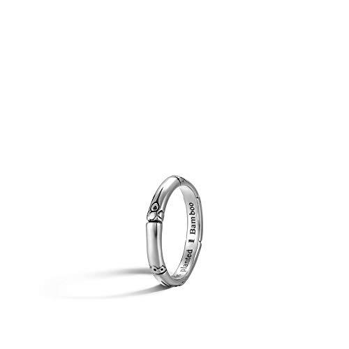 John Hardy Women's Bamboo Silver Slim Ring, Size -