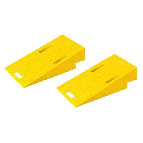 Diamondback-UHB2025R-Polyurethane-Modular-Bridge-System-Ramp-for-UHB2025T-Tunnel-Yellow-1475-Length-16-Width-388-Height-Pair