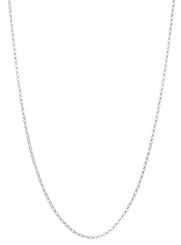 Pure .925 Sterling Silver Rhodium Plated 2mm Rolo Chain Necklace, 20