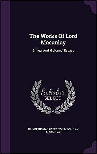 Macaulay, Thomas Babington.