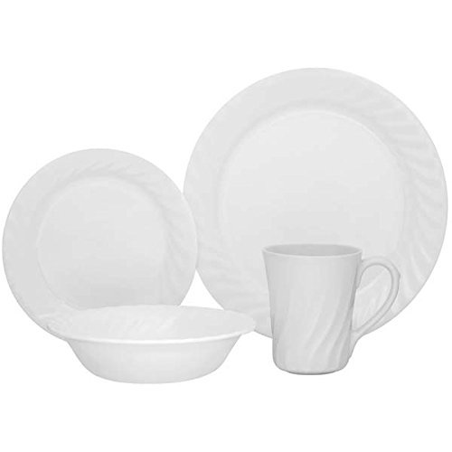 Corelle Vive 16-Piece Dinnerware Set, Sculptured, Service for 4 ()