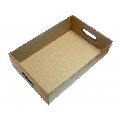 Pack King 25 bandejas de cartón para Frutas, Cajas de Bebidas