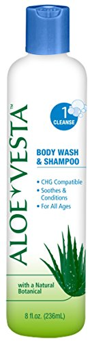 Aloe Vesta® Body Wash & Shampoo, 8 oz Bottle - Pack of 2 (Shower Shampoo Gel)
