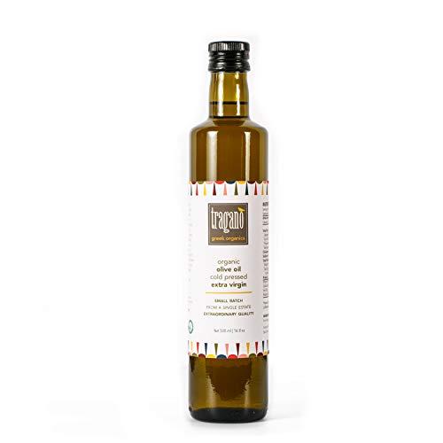 Tragano Greek Organics - Greek Extra Virgin Olive Oil | cold-pressed, small batch, single source | USDA-certified Organic | 500 ml