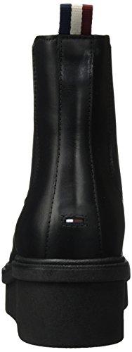 Tommy para 2a D1385eena Jeans Negro Mujer Black Botas Chelsea gXqrgUw