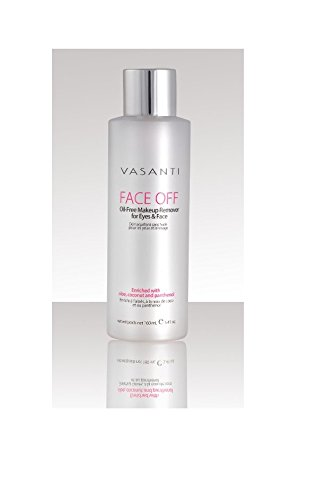 FACE OFF - Oil-Free Makeup Remover for Eyes and Face - Paraben Free, Sulfate Free - For All Skin Types Vasanti Cosmetics
