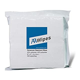 AAwipes Cleanroom Wipes 6″ x 6″ (Bag of 300 Pcs) Lint Free Wipes Cellulose/Polyester Wipers (Grade A, 68 Gram) for Lab, Electronics, Pharmaceutics, Electronics, Printing and Semiconductor Industries