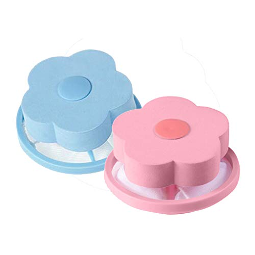 ☘ liyeziaaa ☘ Mesh Filtering Hair Removal Floating 2Pcs Filter Bag Washer Style Laundry Clean