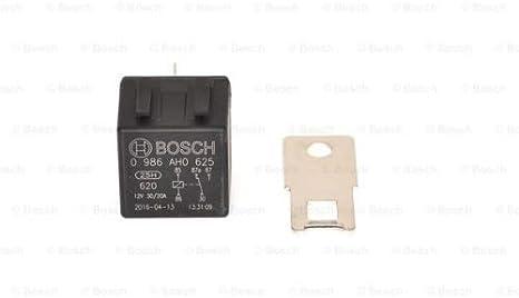 Bosch 0986ah0625 Mini Relais 12v 30a Ip5k4 Betriebstemperatur Von 40 C Bis 100 C Wechselrelais 5 Pin Relais Auto
