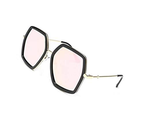 viajar gafas de Guay elegantes hombres los de grandes sol para y de Gafas Pink protección Huyizhi Mujeres sol UV400 de nqU1XqS